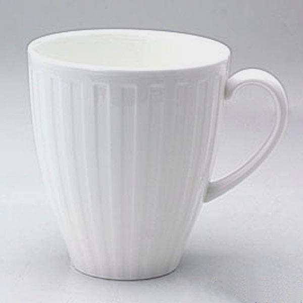 ウェッジウッド(Wedgwood)ナイト&デイ マグカップ 白 フルーティド 0.35L